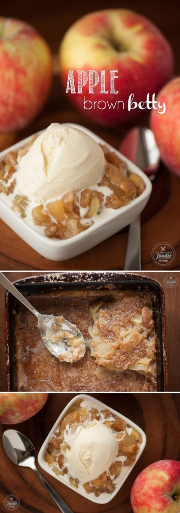 One of my favorite fall desserts is my version of Apple Brown Betty which consists of thinly sliced fresh apples with a no oat sweet and buttery topping.