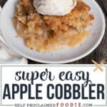 super easy Apple Cobbler recipe