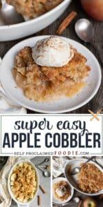 super easy Apple Cobbler recipe