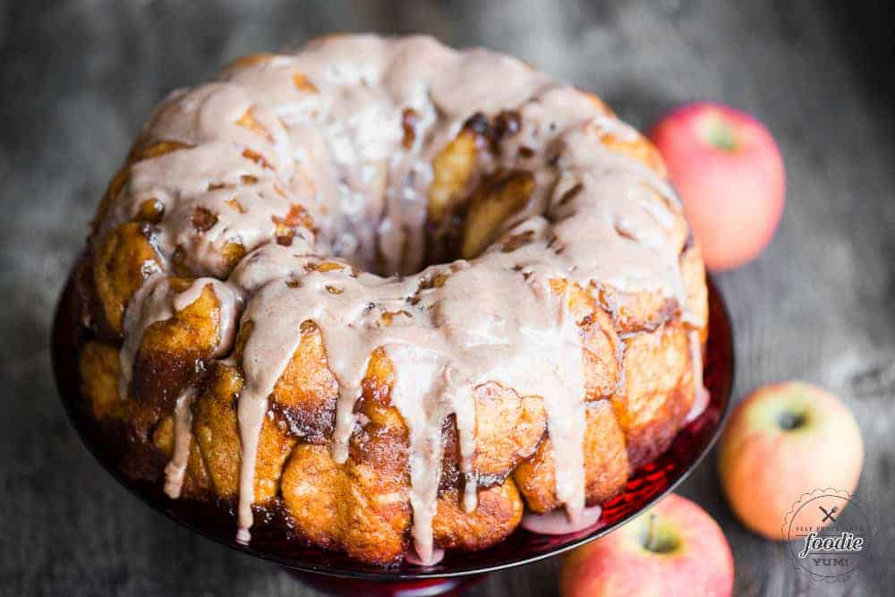 Apple Fritter Monkey Bread Self Proclaimed Foodie