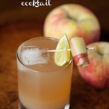 apple ginger stone wall cocktail in a glass