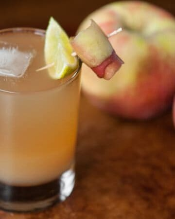 If you're looking for the perfect fall cocktail, this sparkling Apple Ginger Stone Wall Cocktail is made with muddled ginger, apple cider, and bourbon.