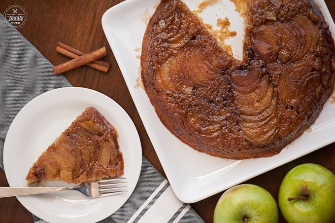 Nothing says fall like a warm spiced apple dessert, and this Apple Upside Down Cake will definitely impress because it is so incredibly rich and delicious.