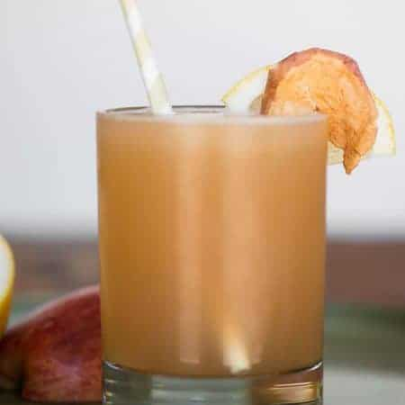 apple whiskey sour in a glass