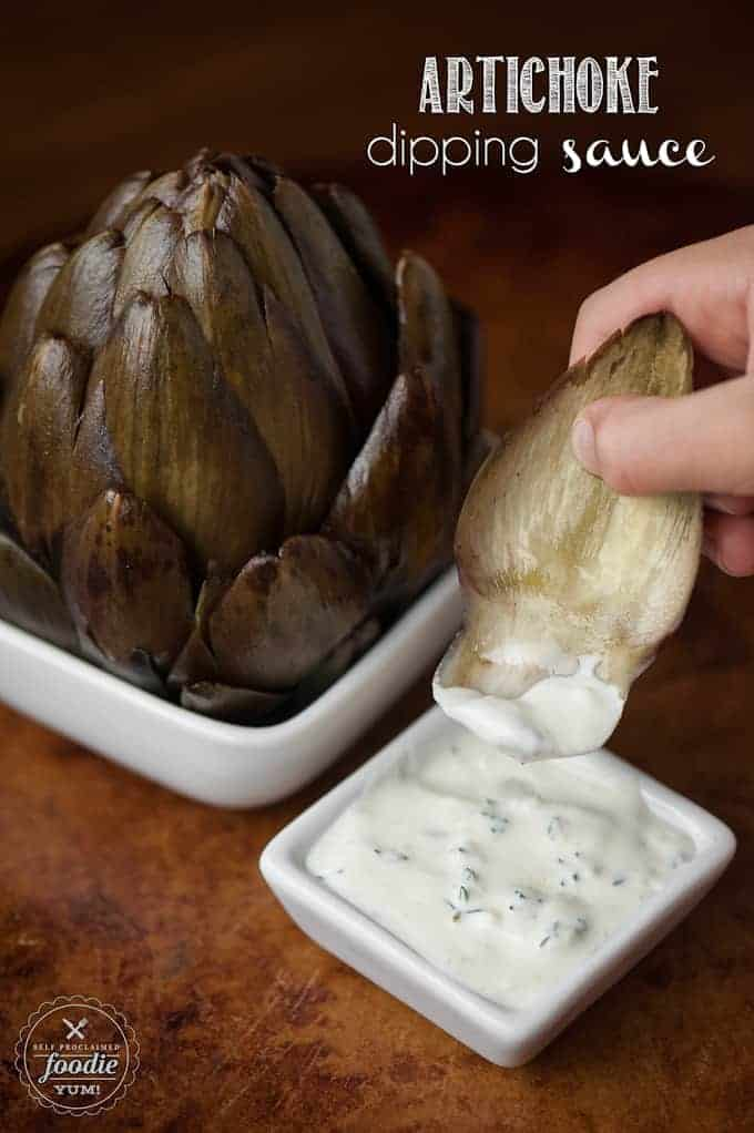 artichoke dipping sauce self proclaimed foodie