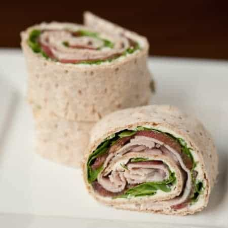 Get creative at lunch time and make these incredibly delicious Back-to-School Turkey Pinwheels with a special cream cheese spread, arugula, & tomato.