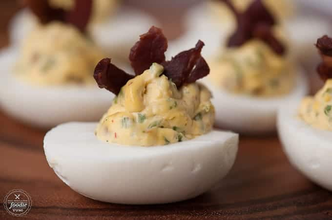 Bacon Jalapeño Deviled Eggs | Self Proclaimed Foodie