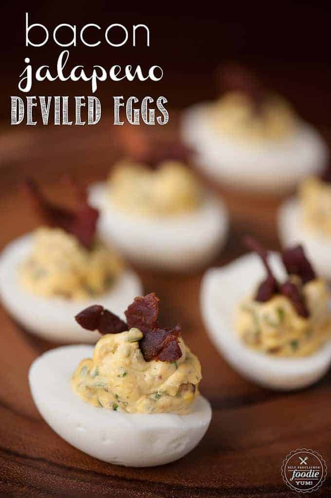 Bacon Jalapeño Deviled Eggs are a spicy two bite appetizer that ...