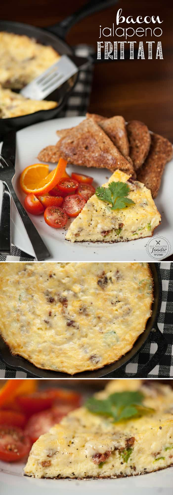 This Bacon Jalapeno Frittata has a secret ingredient that makes it so light, fluffy, and flavorful. Its easy to make and is perfect for breakfast or brunch.