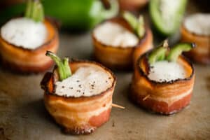 Bacon Wrapped Scallops in oven