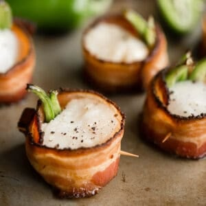 baked Bacon Wrapped Scallops