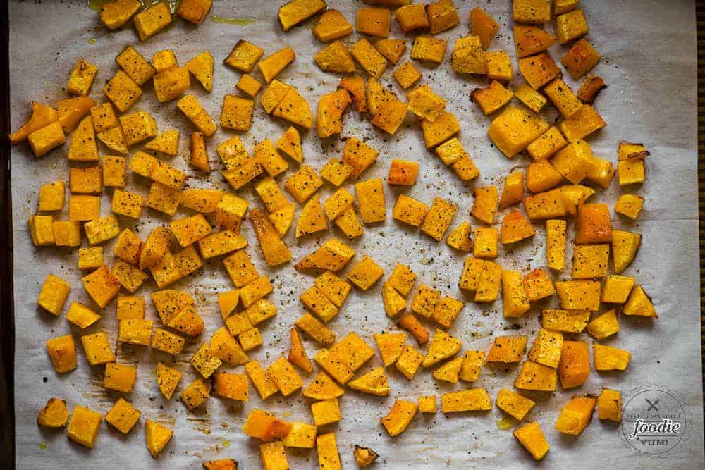 butternut squash baked with olive oil