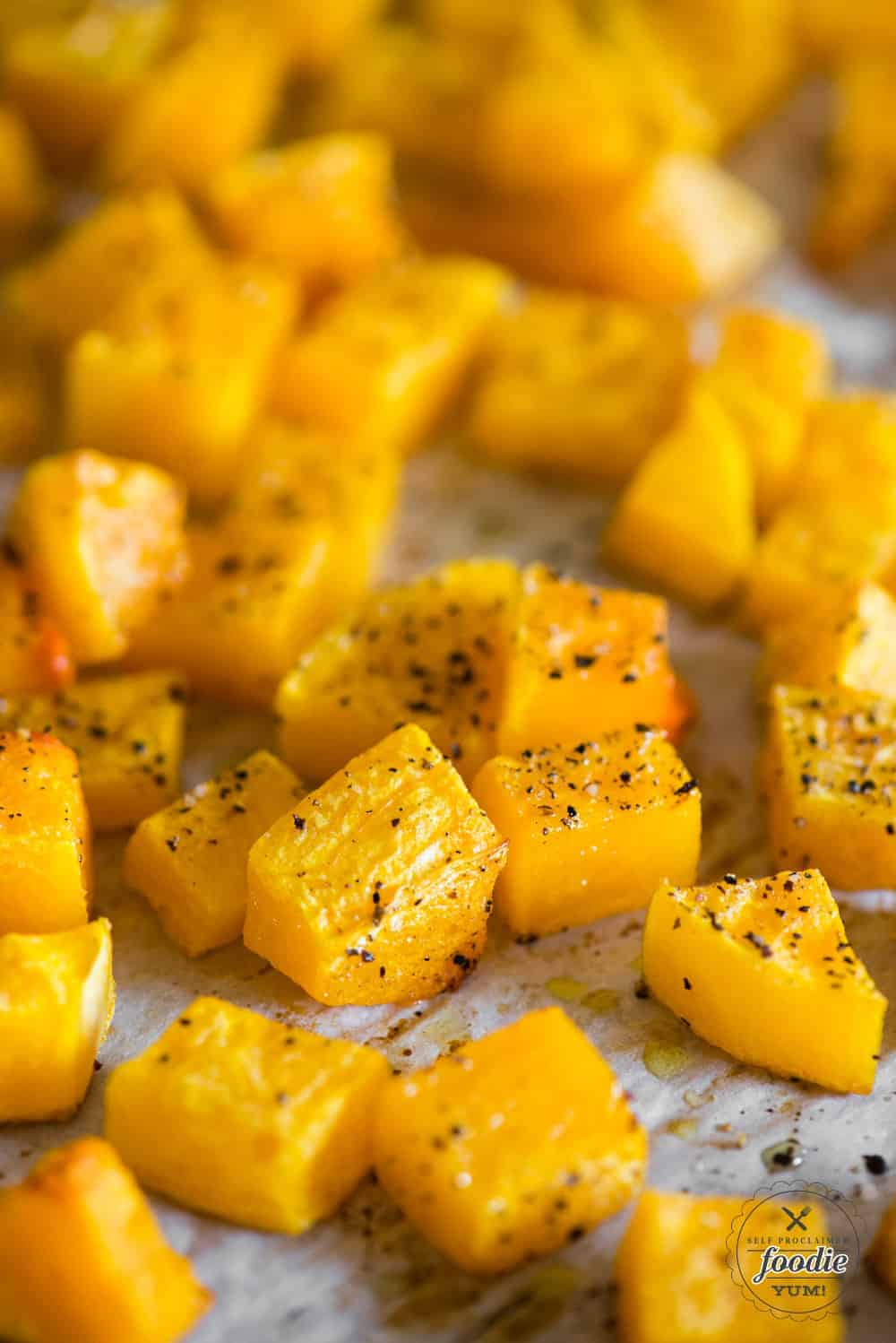 baked butternut squash from whole squash