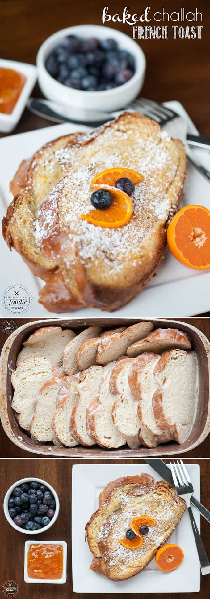 Challah is the perfect bread for french toast, and this heavenly Baked Challah French Toast can be made ahead the night before for an easy family breakfast.