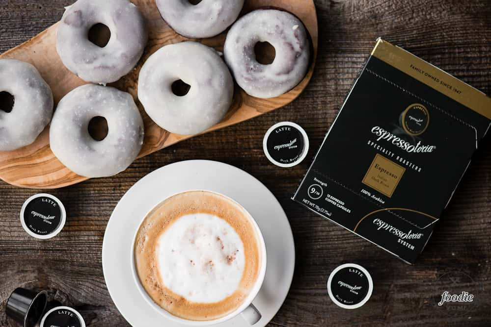 Baked Chocolate Glazed Donuts and Espressotoria promotion