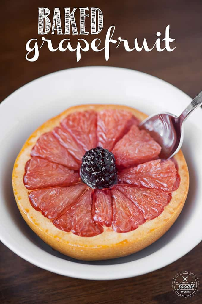 half a grapefruit in bowl that has been broiled with sugar