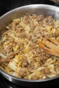 sautéed onions and Italian sausage