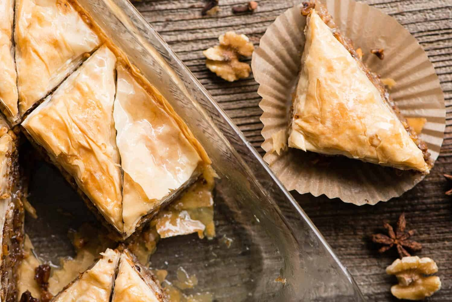 step by step instructions on how to make homemade baklava