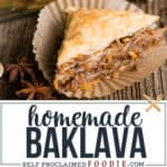 recipe for the best homemade baklava