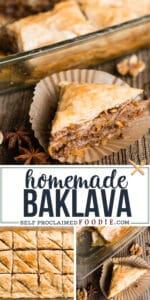 recipe for the best homemade baklava