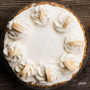 Banana Cream Pie with whipped topping