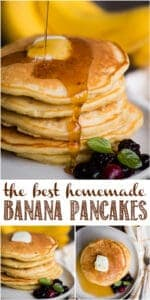 The BEST Homemade Banana Pancakes