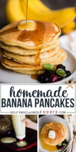 homemade banana pancake recipe