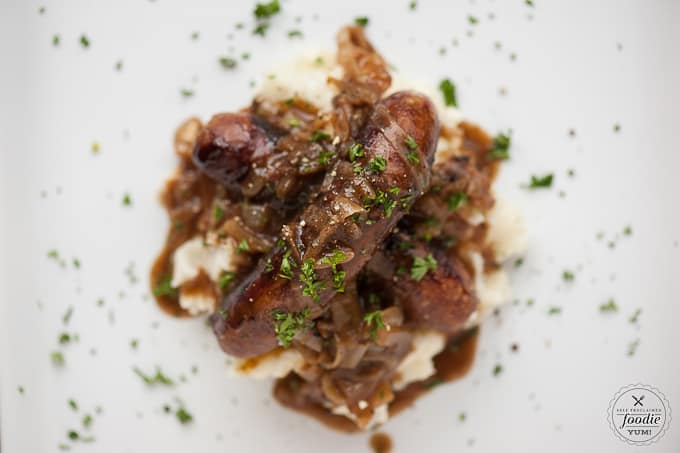 Day, serve up some delicious Bangers & Mash with Stout Onion Gravy ...