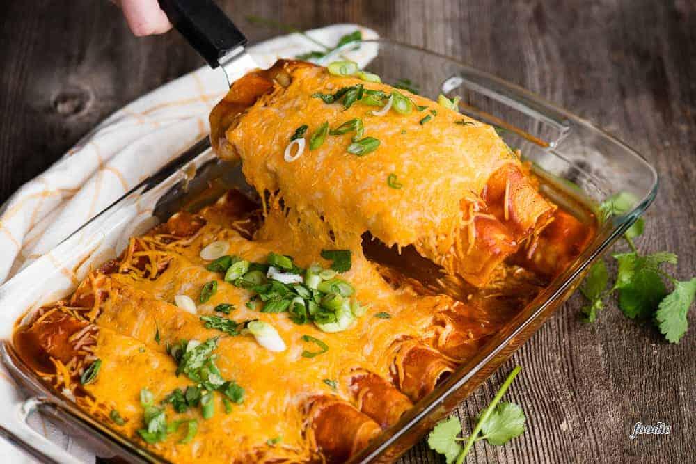 The BEST Beef Enchiladas Recipe | Self Proclaimed Foodie
