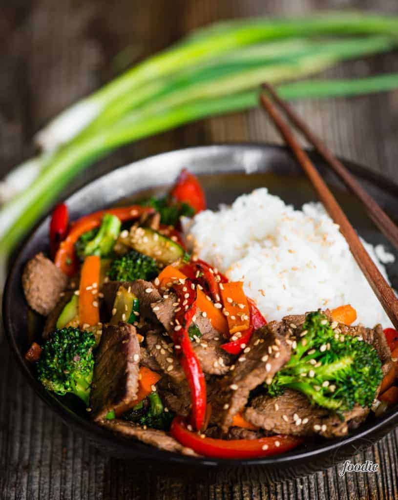 Beef Stir Fry recipe with rice