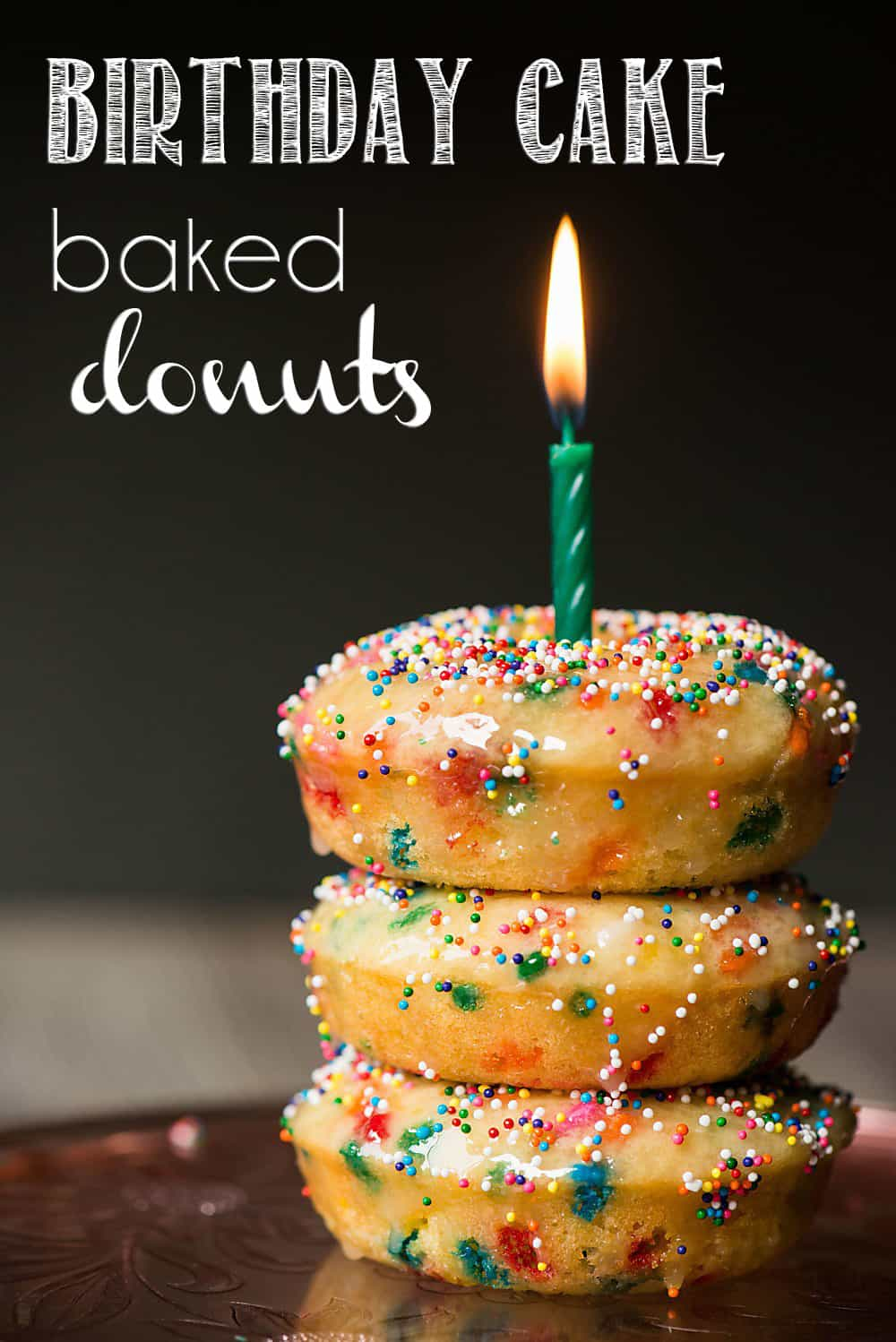 Groovy Birthday Cake Baked Donuts Recipe Video Self Proclaimed Foodie Funny Birthday Cards Online Elaedamsfinfo