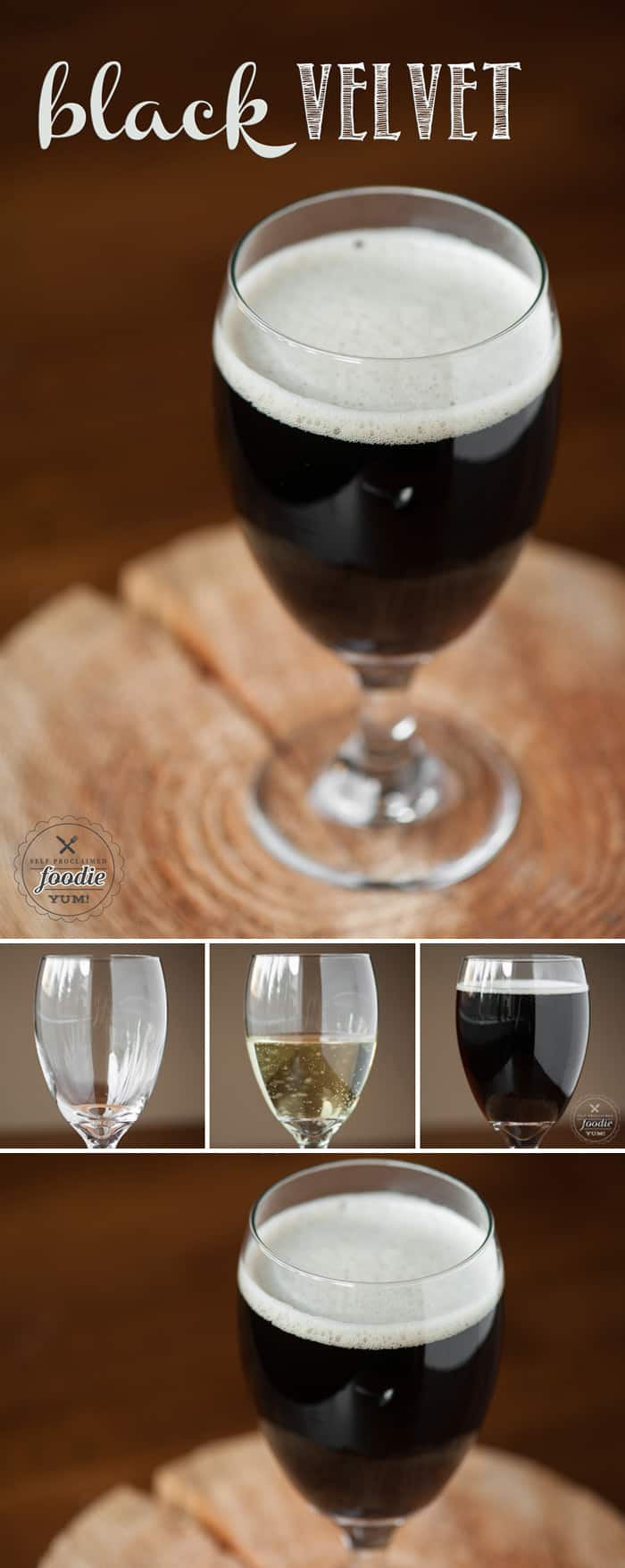 Looking for a tasty and easy to make cocktail that is perfect for any St. Patrick's Day celebration? Try a smooth Black Velvet, made with stout and champagne.