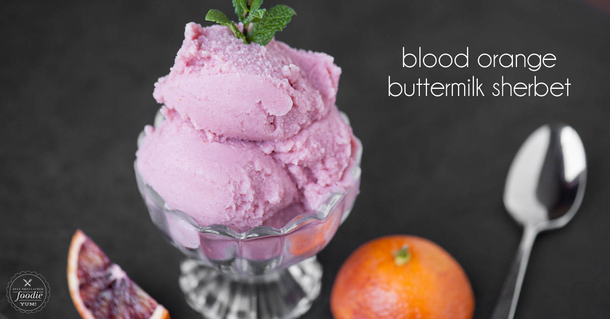 Blood Orange Buttermilk Sherbet | Self Proclaimed Foodie