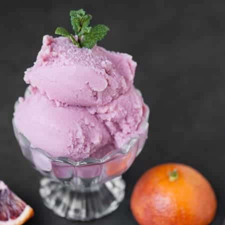 Blood Orange Buttermilk Sherbet