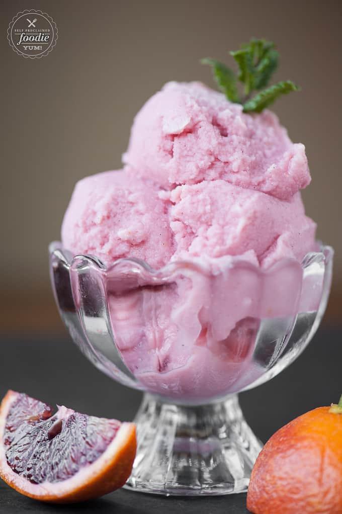 Blood Orange Buttermilk Sherbet | Self Proclaimed Foodie