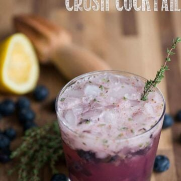 blueberry thyme crush cocktail