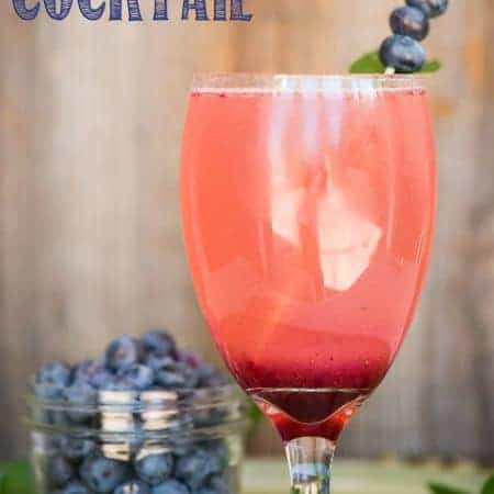 Combine fresh summer fruit and herbs along with a light and refreshing prosecco and you end up with this tasty Blueberry Mint Cocktail!