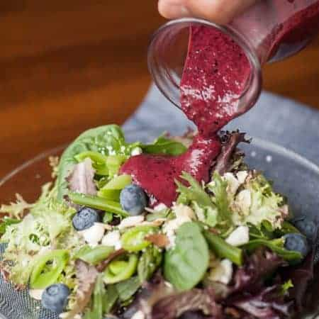 Blueberry Vinaigrette Summer Salad