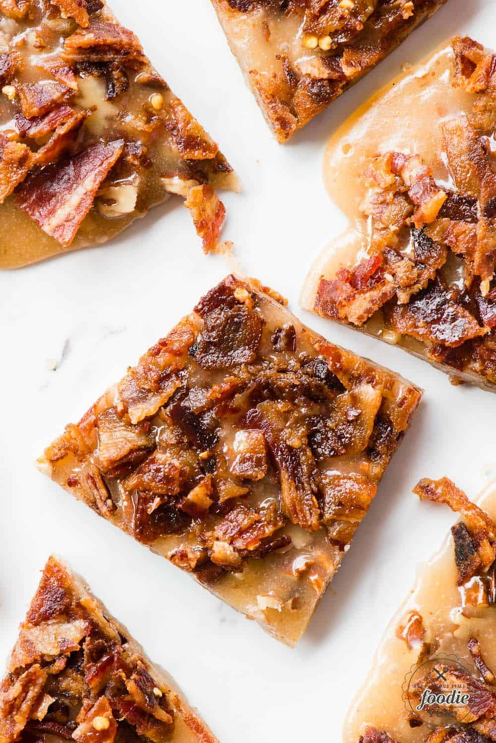 A piece of bourbon bacon brittle