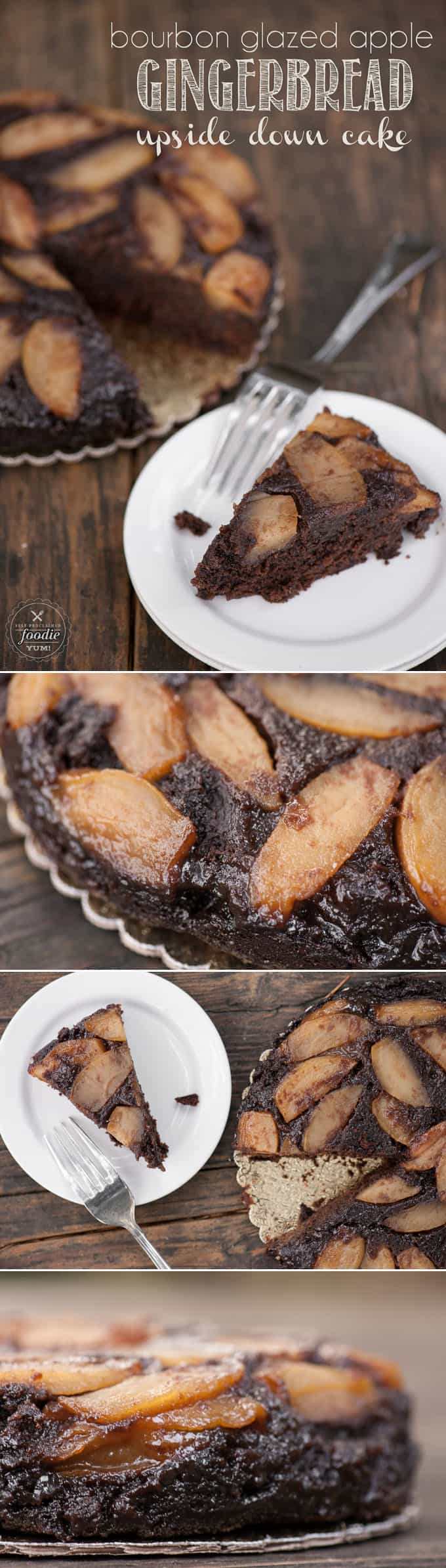 I can't think of a better rustic dessert to serve during the holidays than this delicious Bourbon Glazed Apple Gingerbread Upside Down Cake.