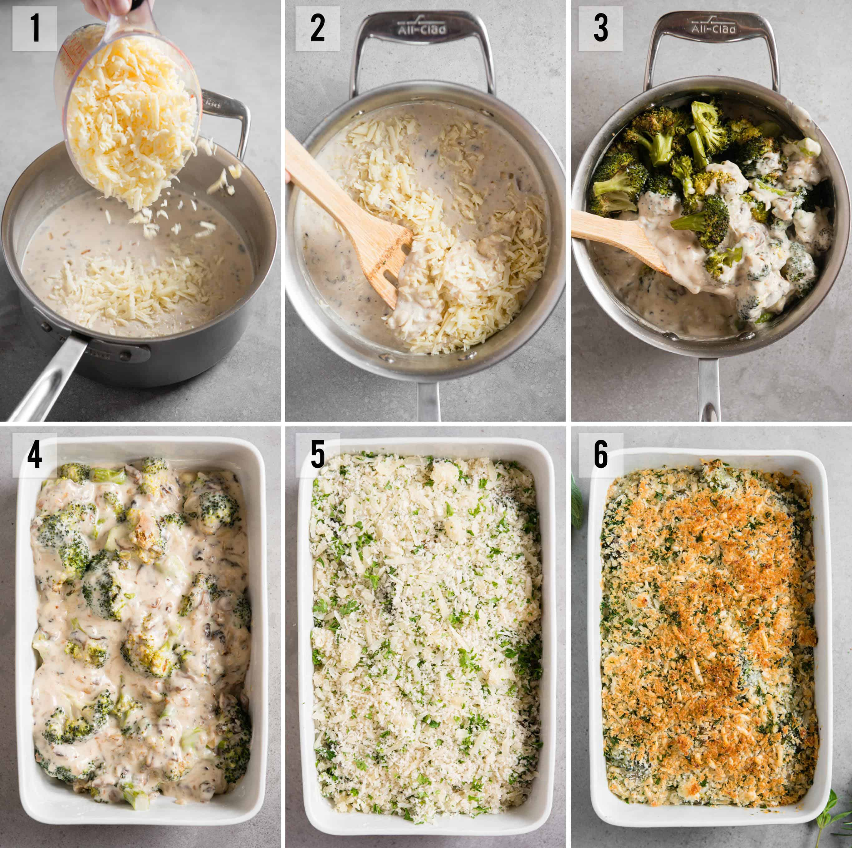 roasted Broccoli Casserole recipe process photos