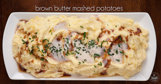 Brown Butter Mashed Potatoes | Self Proclaimed Foodie