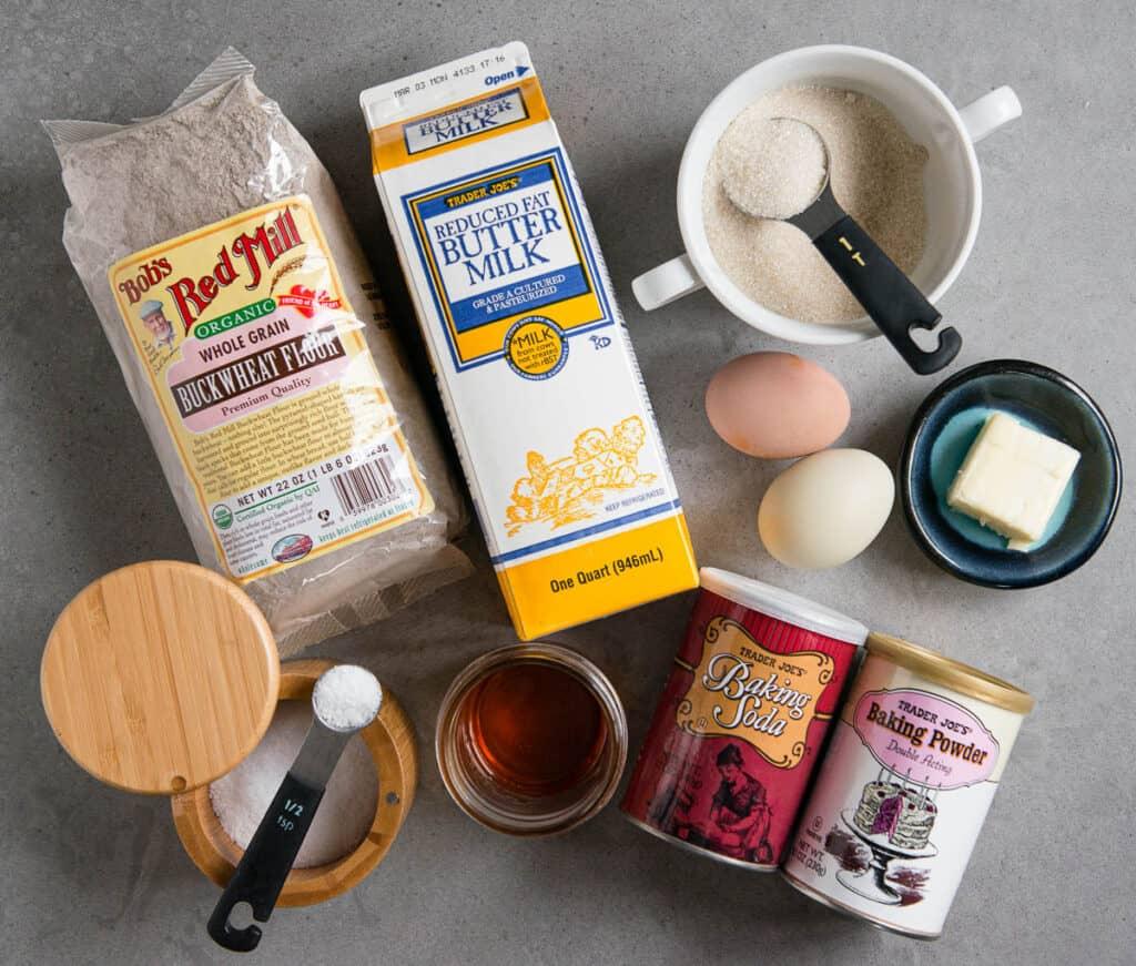ingredients used to make Buckwheat Pancakes