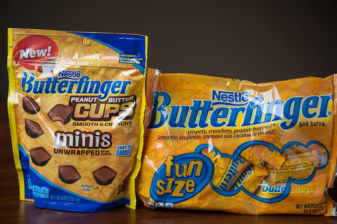 Butterfinger candies in a package