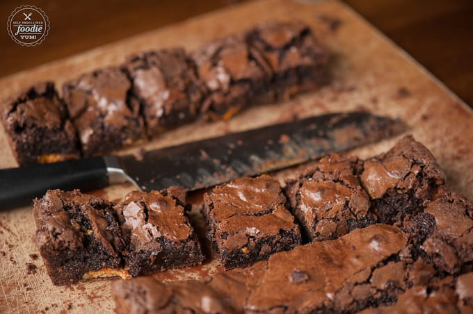 Butterfinger Overload Brownies are the very best quick and easy chocolate peanut butter dessert that's better than anything you've ever tasted.