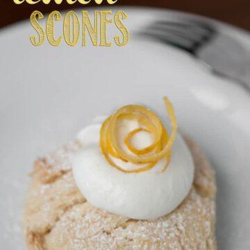 a piece of homemade buttermilk lemon scone