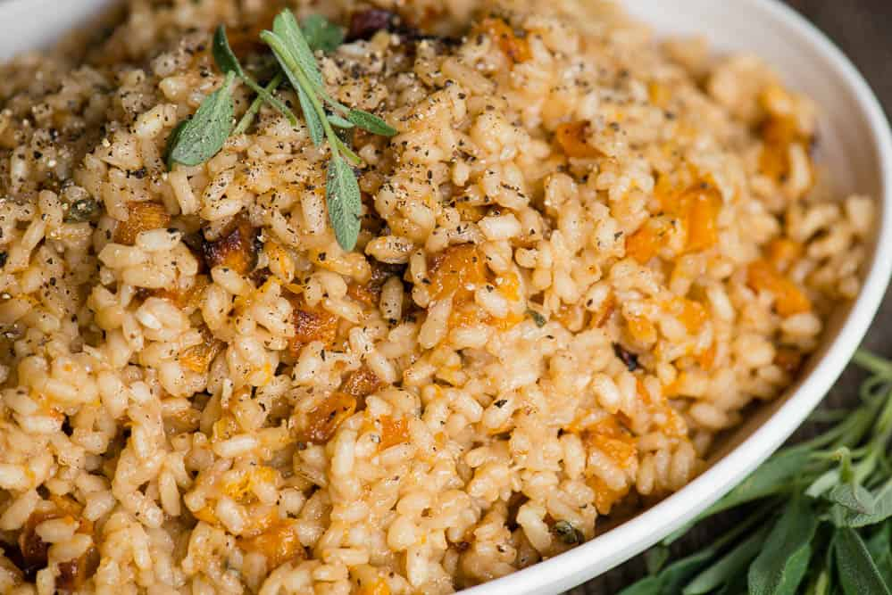close up view of Butternut Risotto