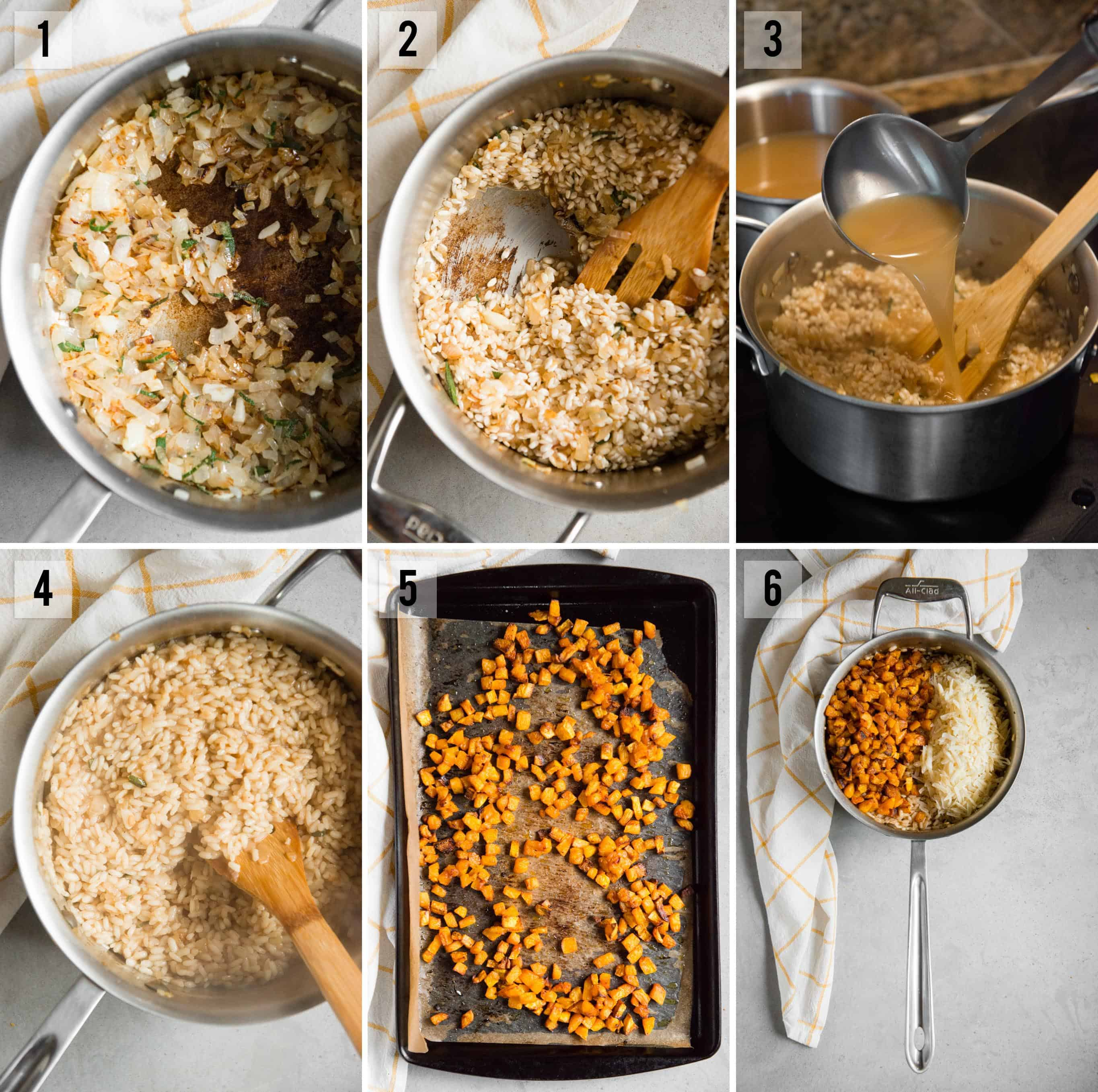 roasted Butternut Squash Risotto recipe process photos
