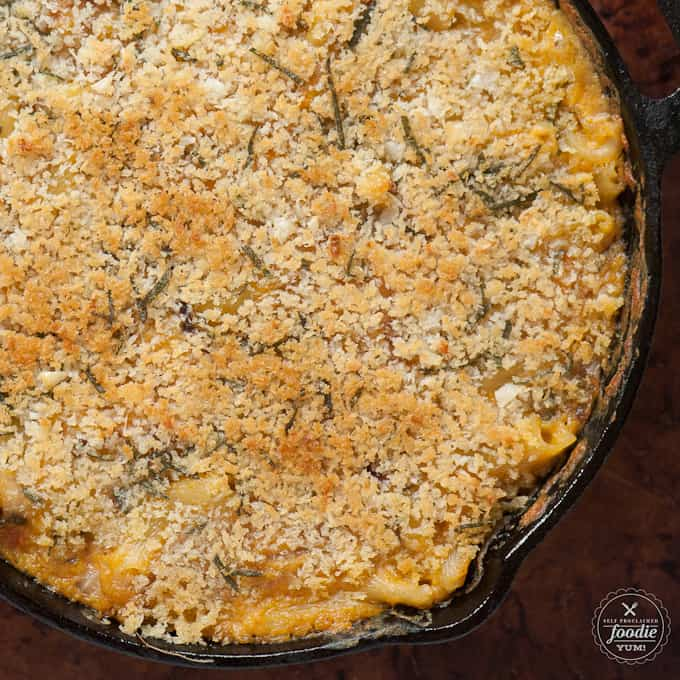 This Butternut Squash Mac n Cheese combines all the wonderful fall flavors of roasted squash, sage, and onion with the comforts of pasta and cheese.