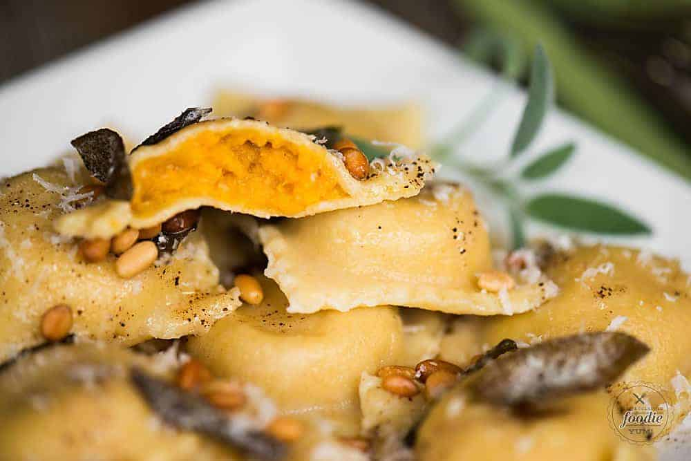 roasting butternut squash with brown butter sage sauce